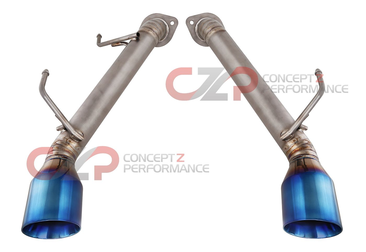 Top Speed Pro-1 Axle Back Exhaust System, Full Titanium w/ Burnt Tips - Infiniti Q50 Sedan V37