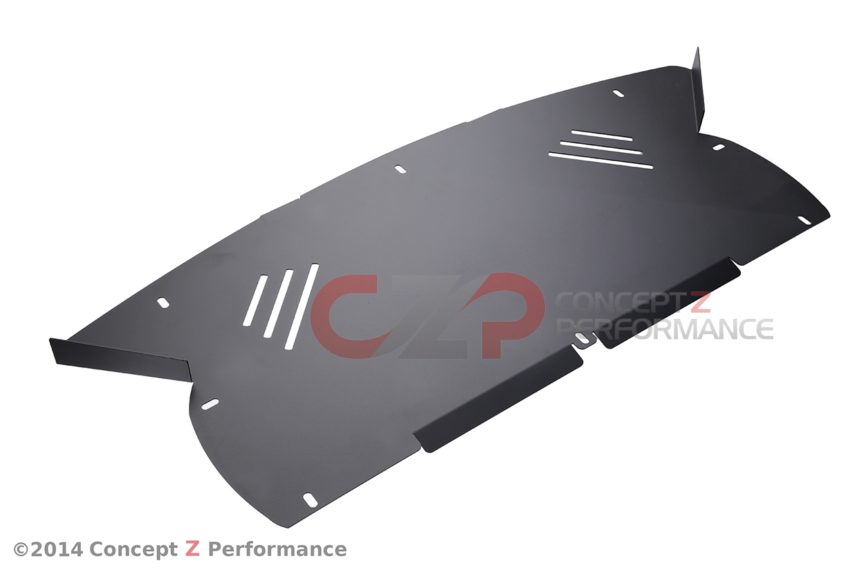 Z Speed Performance ZSP Aluminum Front Fascia Splash Guard Shield Cover for Stock OEM Bumpers - Nissan 300ZX 90-96 Z32