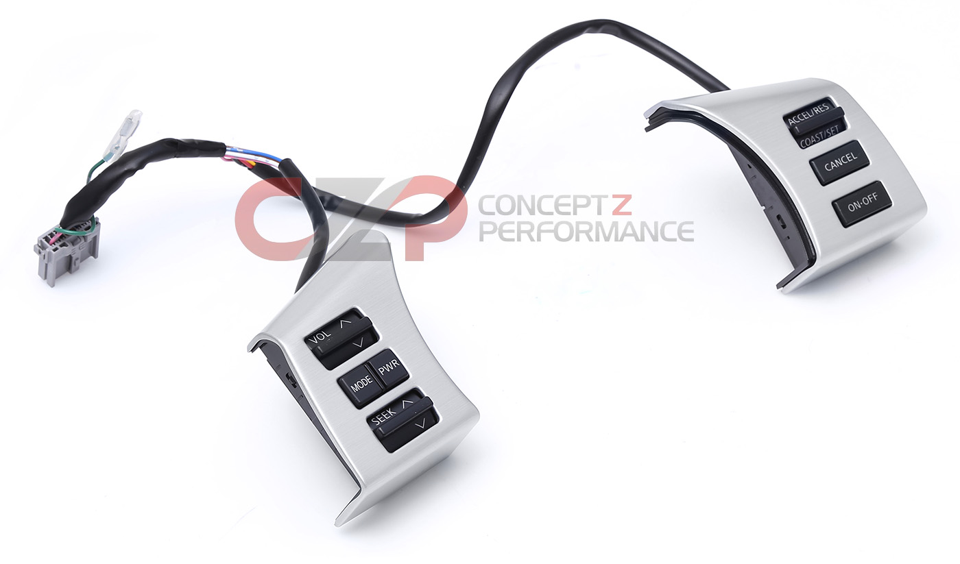 Nissan OEM 25550-CF40A Steering Wheel ASCD Cruise Control / Radio Control Switch 06 Coupe, 06-09 Convertible - Nissan 350Z Z33