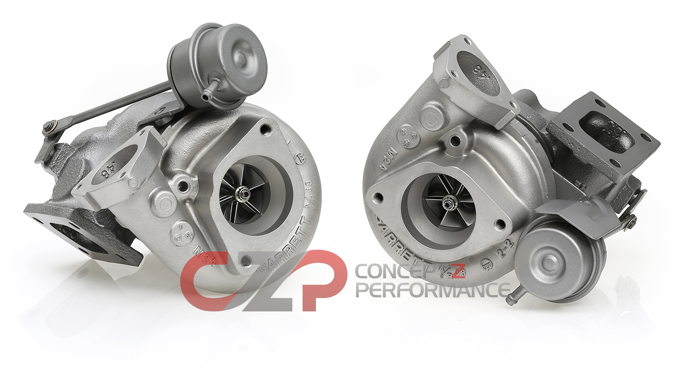 Turbos Direct Garrett Stock OEM Twin Turbocharger Set w/ Billet Compressor Wheel Upgrade, Rebuilt - Nissan 300ZX 90-96 Z32