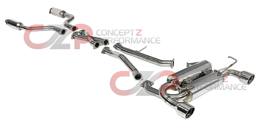 Invidia Gemini Catback Exhaust System, Rolled Stainless Steel Tip - Infiniti G35 Coupe V35
