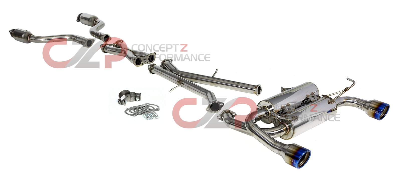 Invidia Gemini Rolled Titanium Tip Cat-Back Exhaust System - Nissan 370Z Z34
