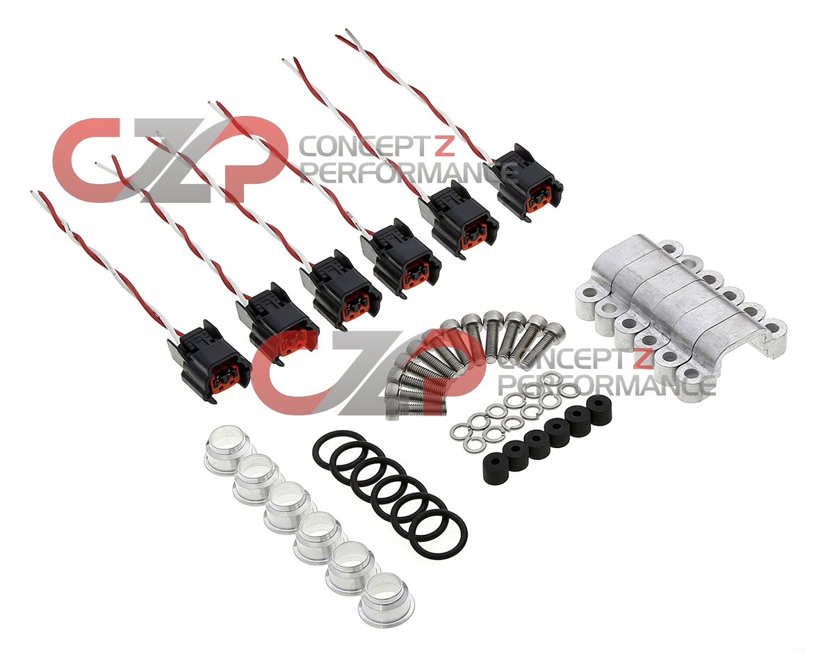 CZP Early To Late Style Fuel Injector Adapter Kit W Connectors