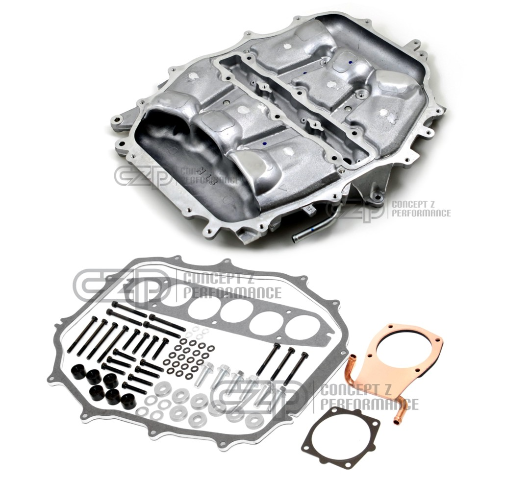 Motordyne Engineering Copper Iso Thermal 5/16 Spacer and MREV 2 Lower Intake Manifold Plenum, VQ35DE - Nissan 350Z / Infiniti G35
