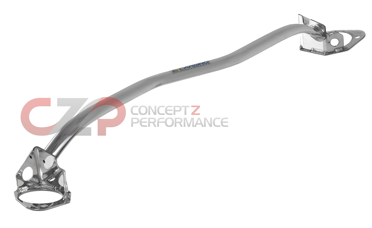 Carbing 621-125-0 Front Strut Bar Brace, Polished Finish - Nissan 300ZX 90-96 Z32