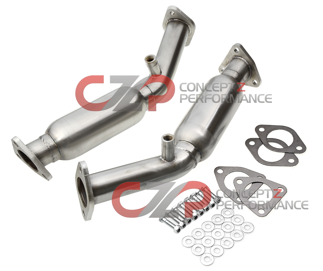 Kinetix Racing Resonated Test Pipes, VQ35DE - Nissan 350Z / Infiniti G35