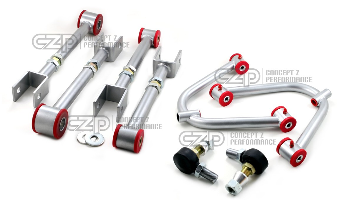 Kinetix Racing Front Camber A-Arm & Rear Camber / Traction Package Set - Nissan 350Z / Infiniti G35