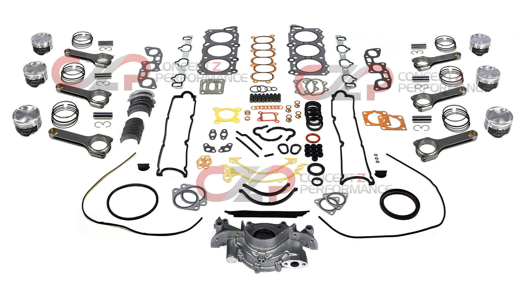 Czp wiseco piston eagle connecting rod engine rebuild kit wiseco piston eagle connecting rod engine rebuild kit package a twin turbo tt nissan 300zx 90 96 z32 vanachro Images