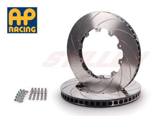 AP Racing Stillen NIS3900S GT-R 2-Piece Replacement Front Rotors w/ Hardware Slotted R35 09-11