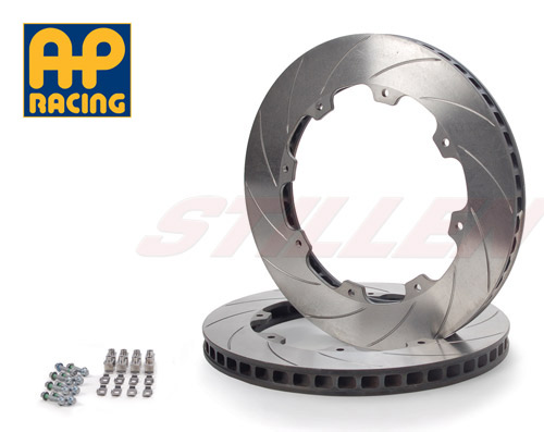 AP Racing Stillen NIS3901S 2-Piece Replacement Rear Rotor Discs w/ Hardware Slotted - Nissan GT-R 09+ R35