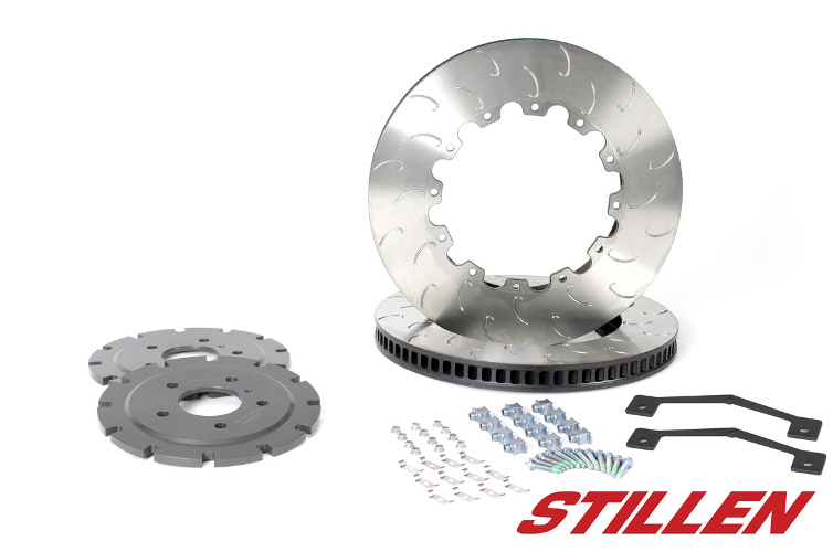 AP Racing Stillen 390mm Upgrade 2-Piece Replacement Front Rotors w/ Hardware, Hats & Spacer J-Hook - Nissan GT-R 09-11 R35