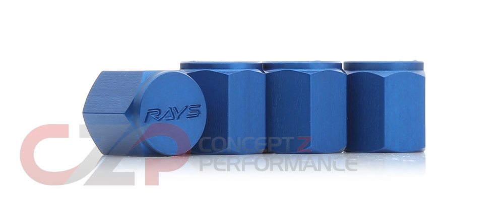 Volk Racing Rays WVALBL Valve Stem Caps Blue
