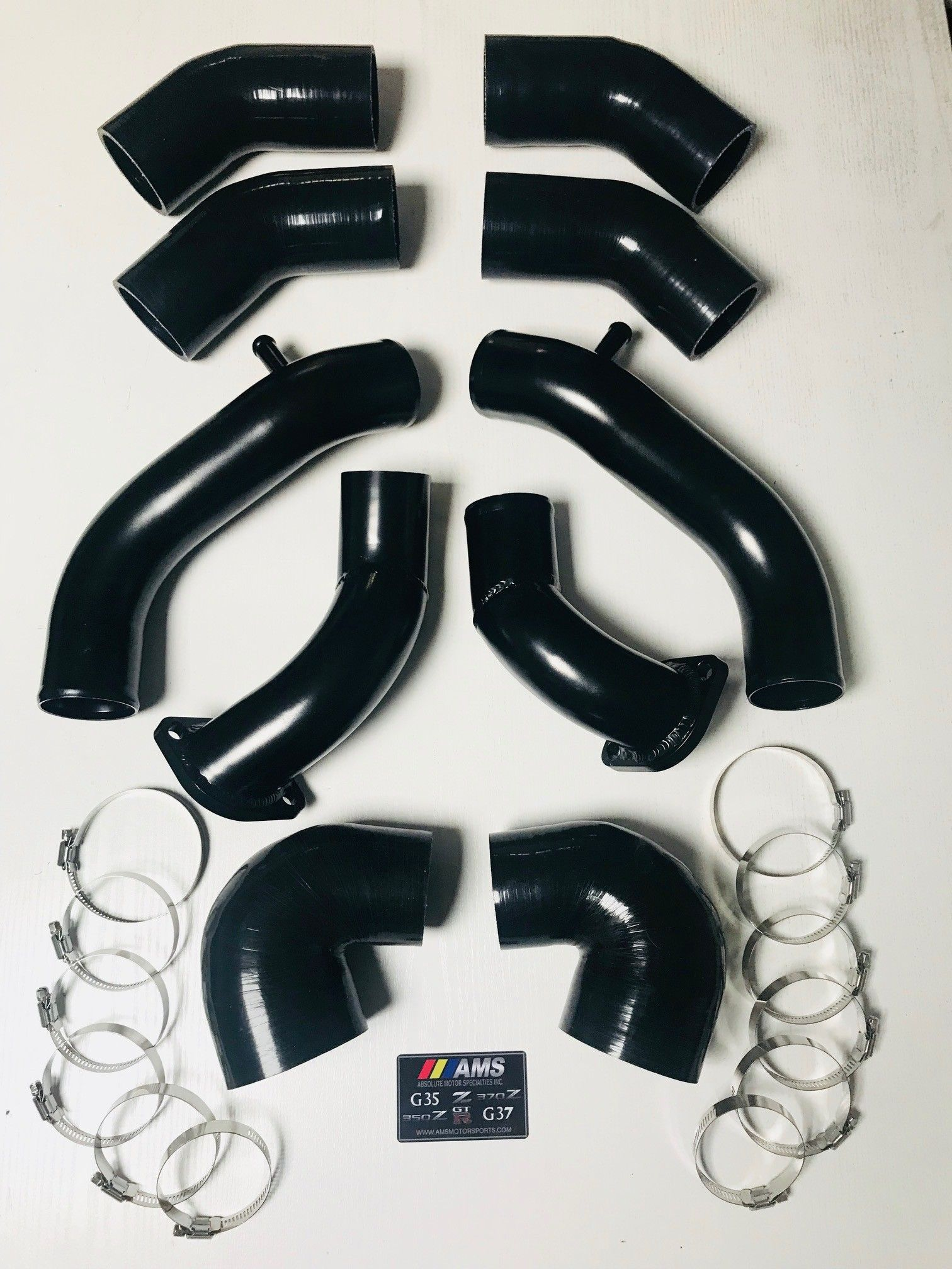 "AMS 2.5"" Turbo Intake Inlet Pipe Kit - Nissan 300ZX Twin Turbo TT Z32"