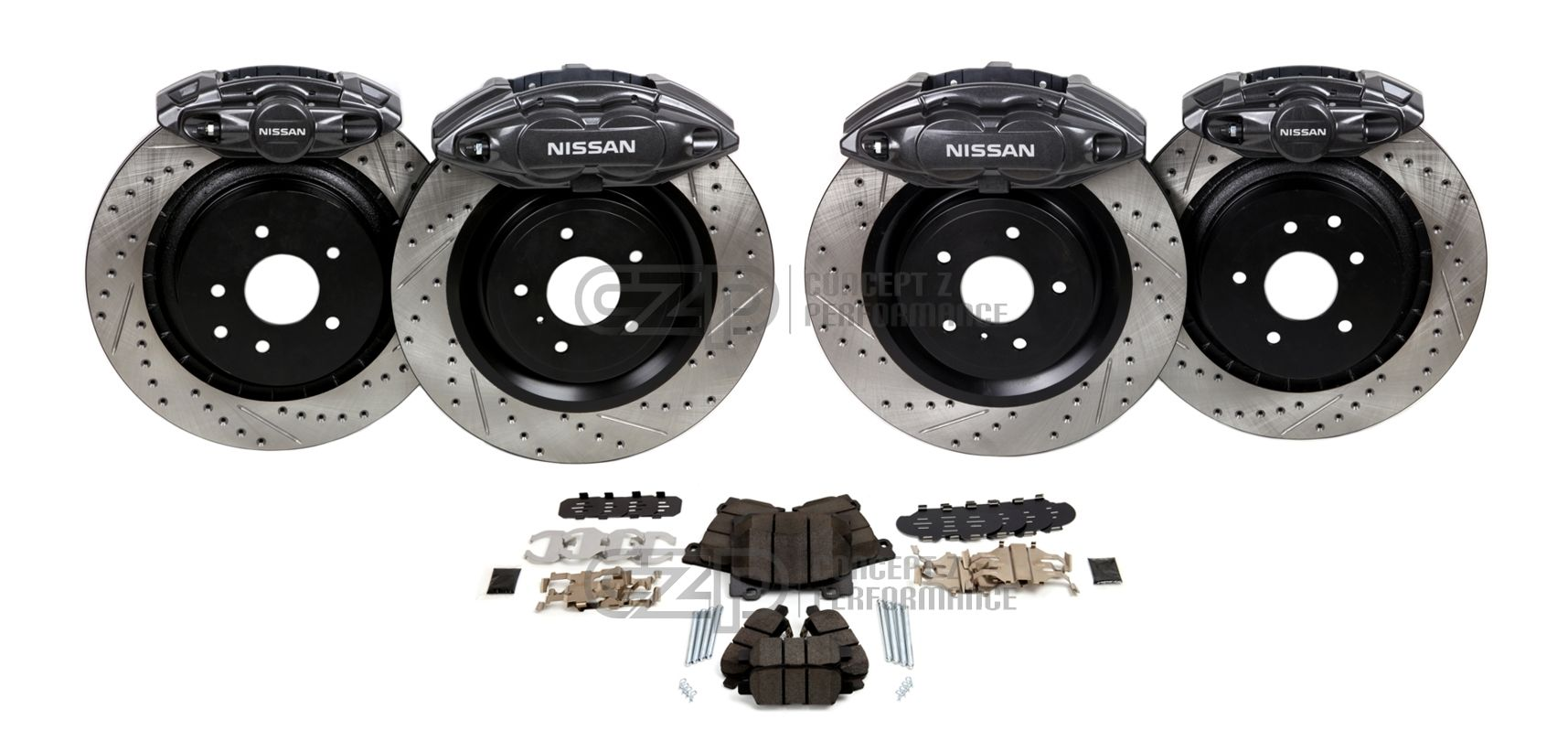 Akebono Infiniti Front and Rear Big Brake Kit Upgrade Kit FX35 / FX37 / FX45 / FX50 / QX70