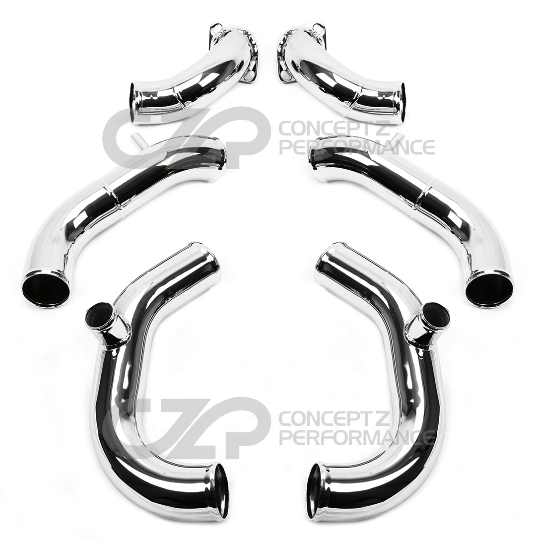 "300zx Turbo Outlet Pipes: AMS 300ZX 2.5"" Turbo Intake Inlet Pipe Kit Twin Turbo Z32"