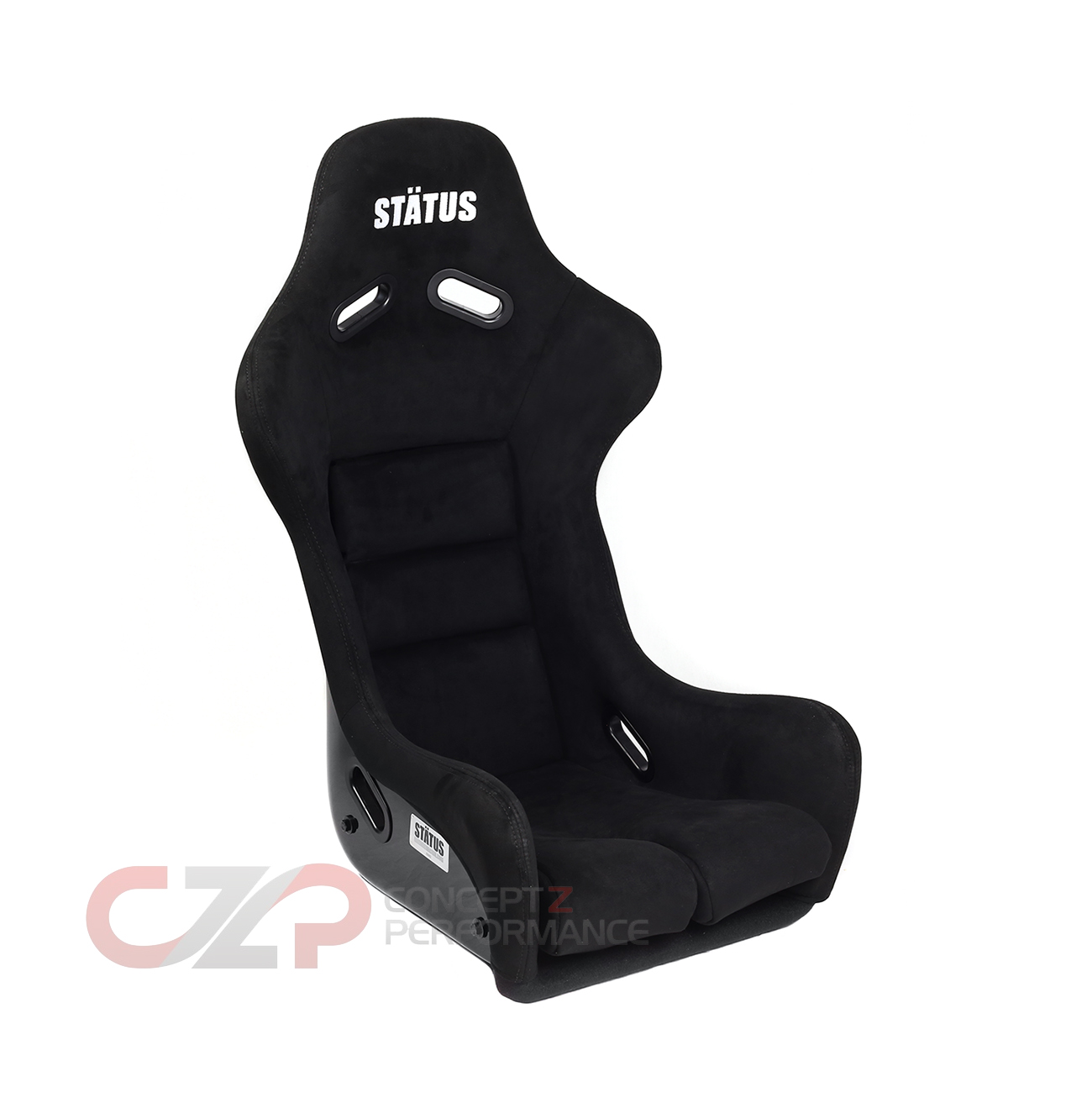 Status Racing Standard Ring Bucket Seat Black FRP Ultrasuede - FIA Approved STA05-F-A